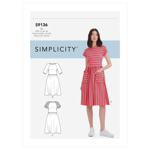 Simplicity Sewing Pattern S9136 - Misses' Dress