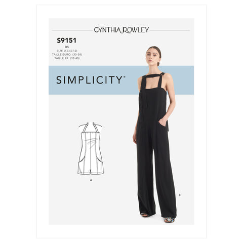 Simplicity Sewing Pattern S9151 -Misses' Jumpsuit & Romper
