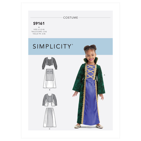 Simplicity Sewing Pattern S9161 - Children's Witch Costumes