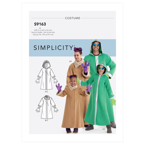 Simplicity Sewing Pattern S9163 - Unisex Children's, Teens' & Adults' Costumes
