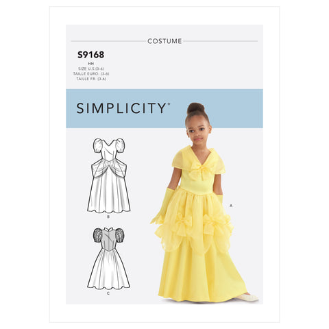 Simplicity Sewing Pattern S9168 - Children's & Girls' Princess Costumes