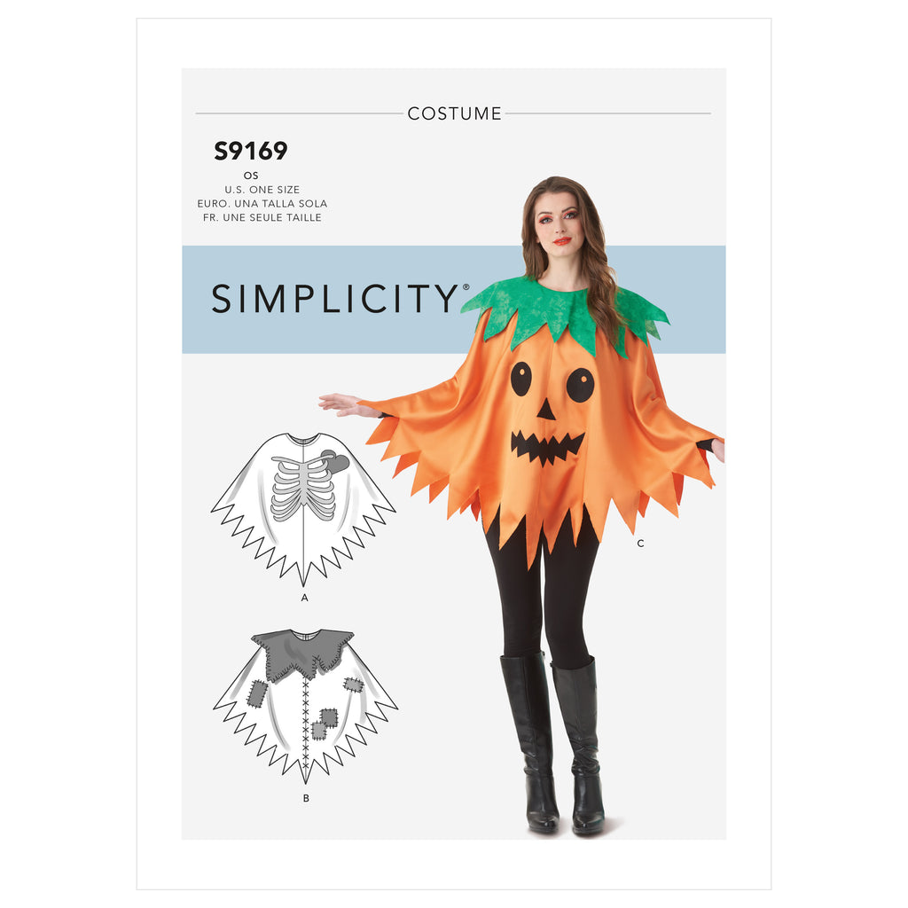 Simplicity Sewing Pattern S9169 - Misses' Character Poncho Costumes