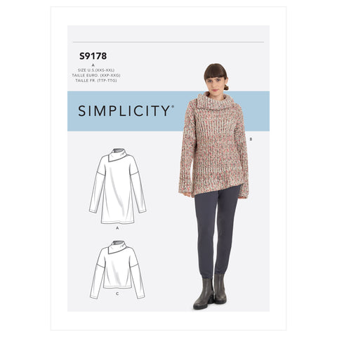 Simplicity Sewing Pattern S9178 - Misses' Tops