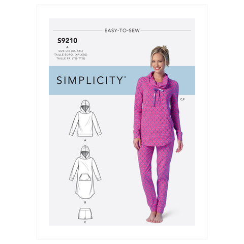 Simplicity Sewing Pattern S9210 - Tops, Dress, Shorts, Pants and Slippers