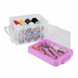 Two-Tier Sewing Kit Box