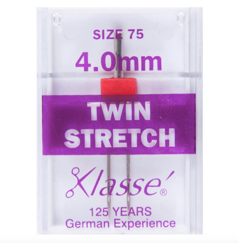 Klasse Sewing Machine Needles - Twin Embroidery Metalfil 80/2mm