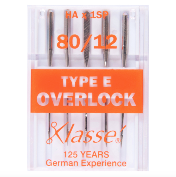 Klasse Sewing Machine Needles - Overlocker Type E 80/12
