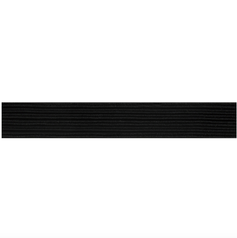 13mm Braided Elastic - Black