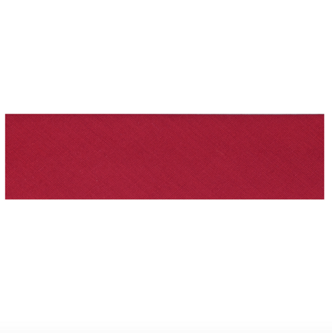 Scarlet Bias Binding 25mm