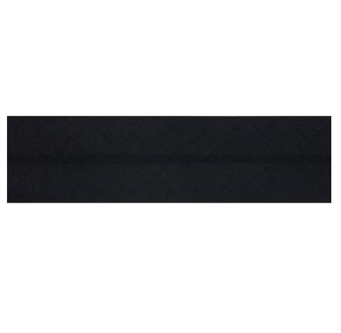 "25mm/1"" Polycotton Bias Binding - Black"