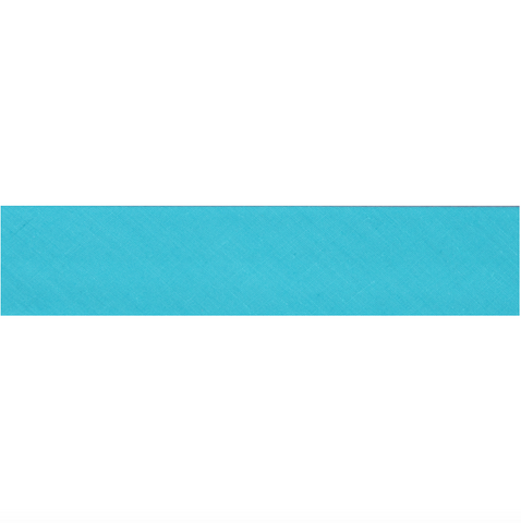 "13mm/1/2"" Polycotton Bias Binding - Aqua Blue"
