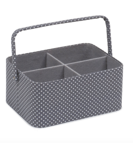 Grey Polka Dot Craft Caddy Organiser