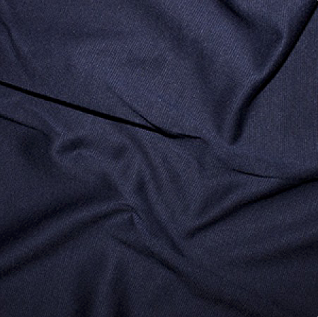 Navy Plain Ponte Roma Fabric