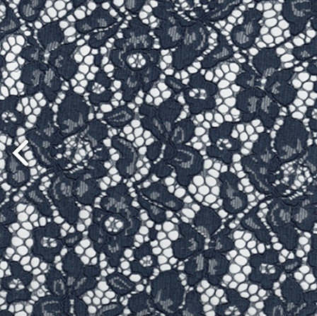 Navy Corded Lace Fabric