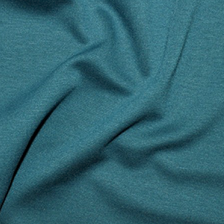 Teal Plain Ponte Roma Fabric