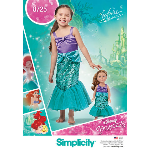 "Simplicity Sewing Pattern 8725 - Child's and 18"" Doll Costumes"