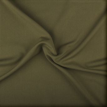 Khaki Stretch Twill Fabric