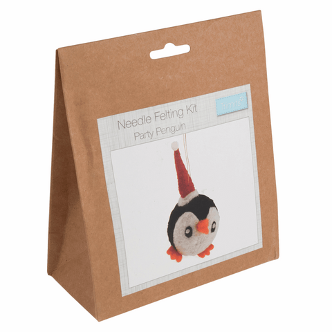Trimits Party Penguin Christmas Needle Felting Kit