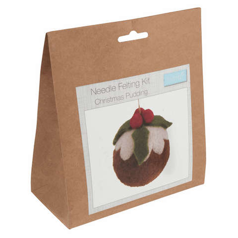 Trimits Christmas Pudding Needle Felting Kit