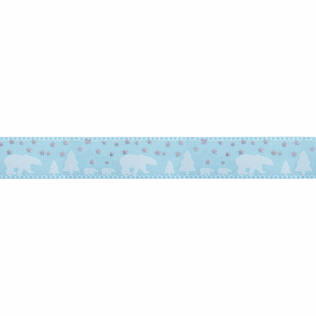 10mm Polar Bear and Stars Ribbon