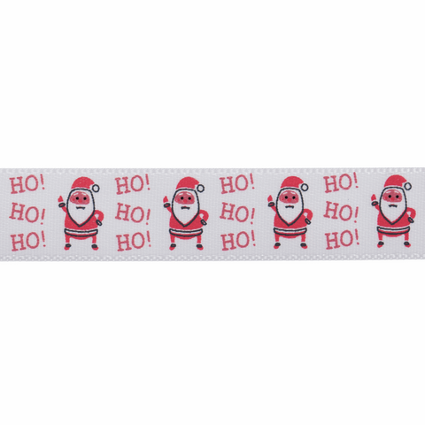 15mm Ho Ho Ho Santa Christmas Ribbon