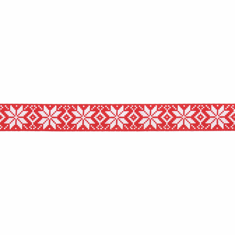 10mm Nordic Snowflakes Ribbon