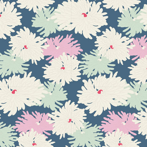 Tilda The Cottage Collection - Minnie Blue - 100% Cotton Fabric