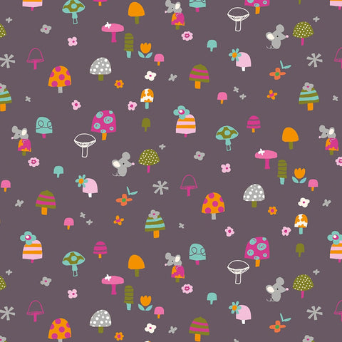 Dashwood Walk in the Woods - Mice & Mushrooms - 100% Cotton Fabric