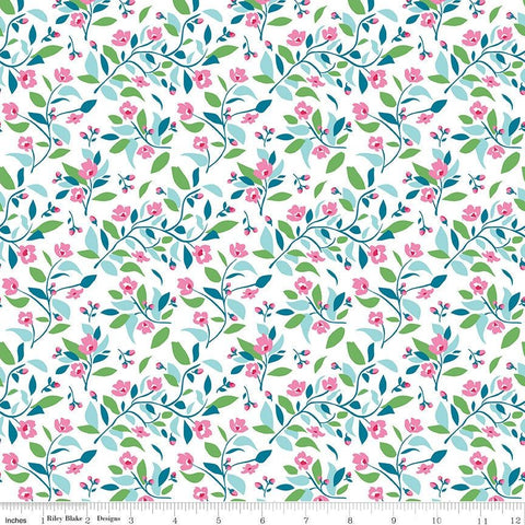 Riley Blake Fleur - Vines Blue - 100% Cotton Fabric