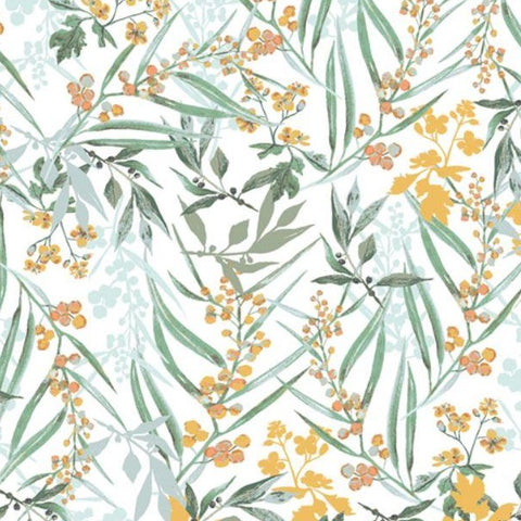 Art Gallery Picturesque by Katarina Roccella - Lush Mimosa - Jersey Knit Fabric