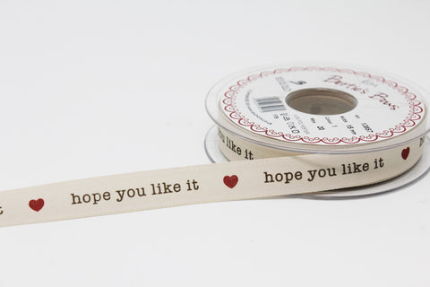 15mm Hope You Like It Ribbon - Red