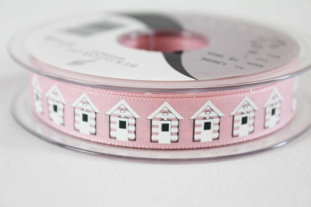 Pink Beach Huts Ribbon