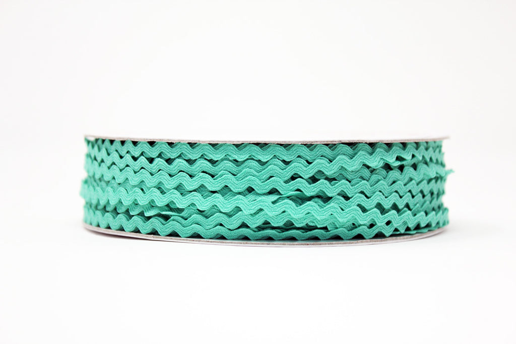 7mm Ric Rac Trim - Sea Breeze Green