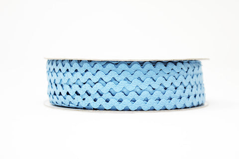 7mm Ric Rac Trim - Sky Blue