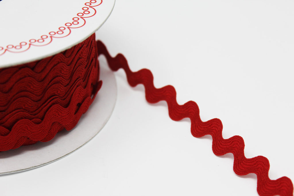 13mm Large Ric Rac Red