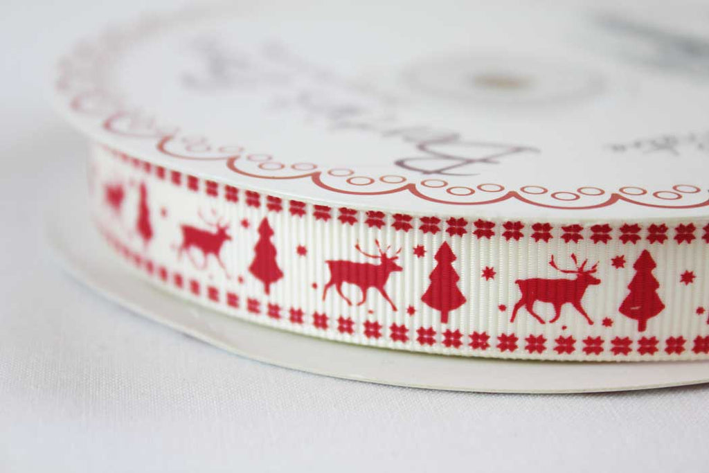 Scandi Tree Ribbon Red