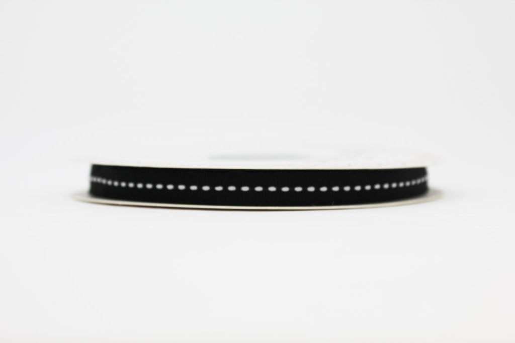 9mm Centre Stitch Ribbon - Black