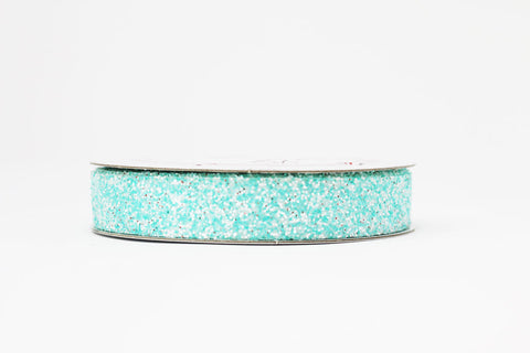 15mm Blue Crystal Glitter Ribbon