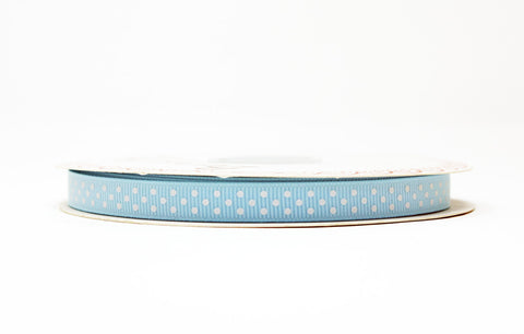 Baby Blue Polka Dot Ribbon