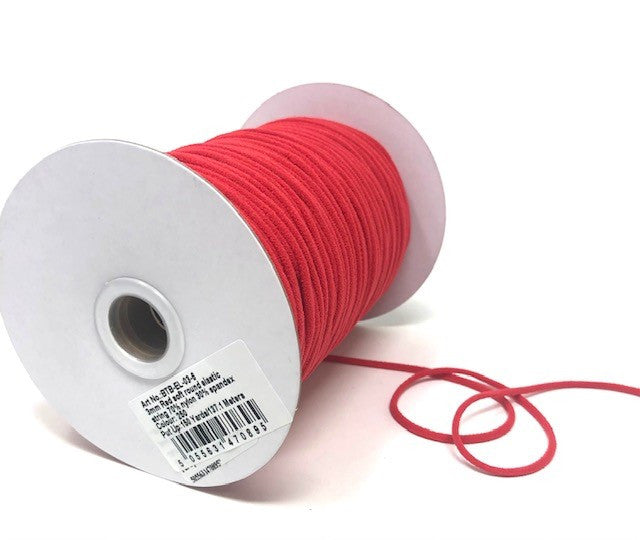 3mm Extra Soft Elastic Cord - Red