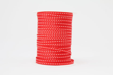 3mm Red Centre Stitch Ribbon