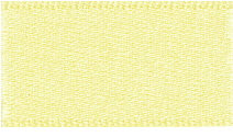 15mm Double Faced Satin Ribbon - Pale Lemon