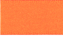 15mm Double Faced Satin Ribbon - Orange Delight