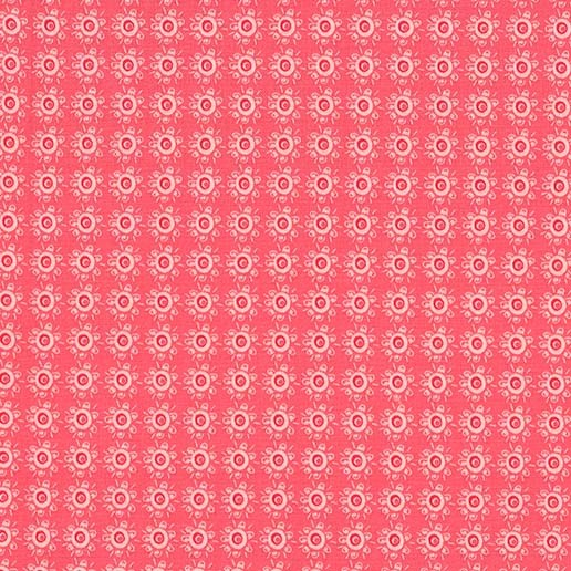 Michael Miller Hedge Hugs - Rough Around the Hedges Coral - 100% Cotton Fabric