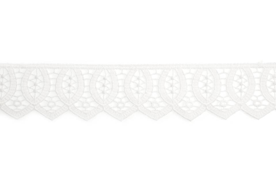60mm Guipure Off-White Lace Trim
