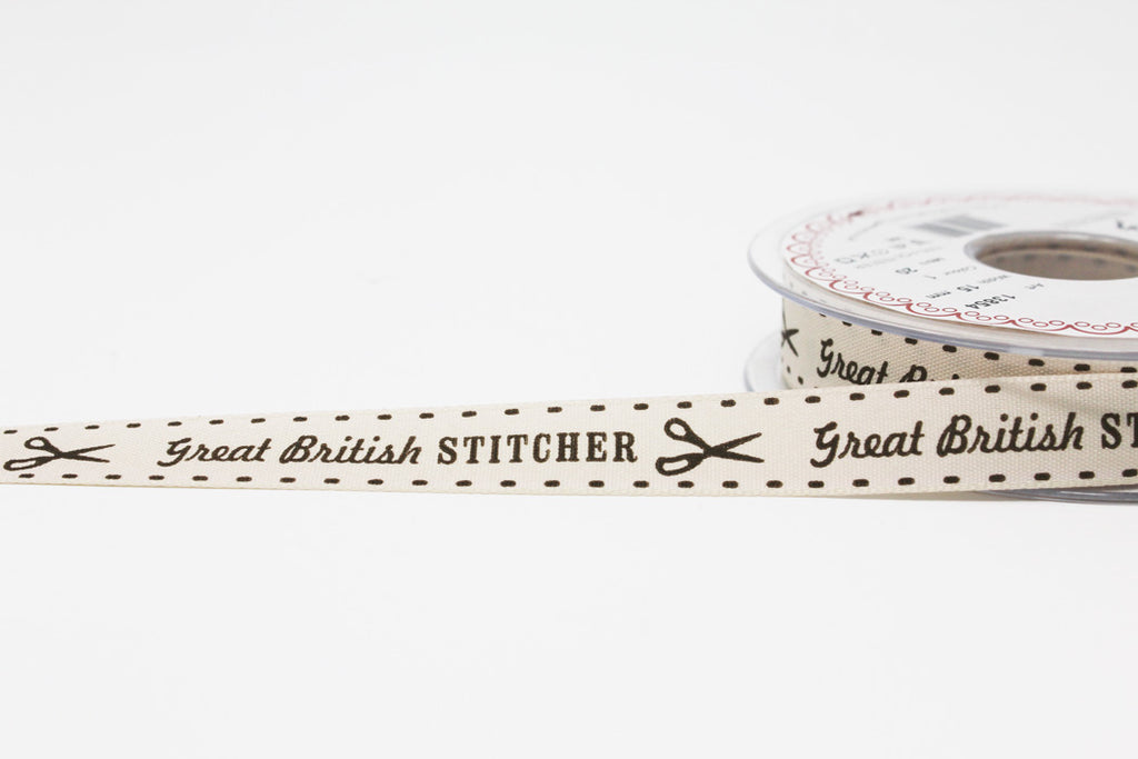 15mm Great British Stitcher Ribbon