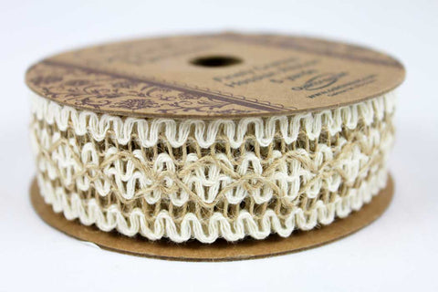 30mm Laced Wide Decorative Hessian Trim