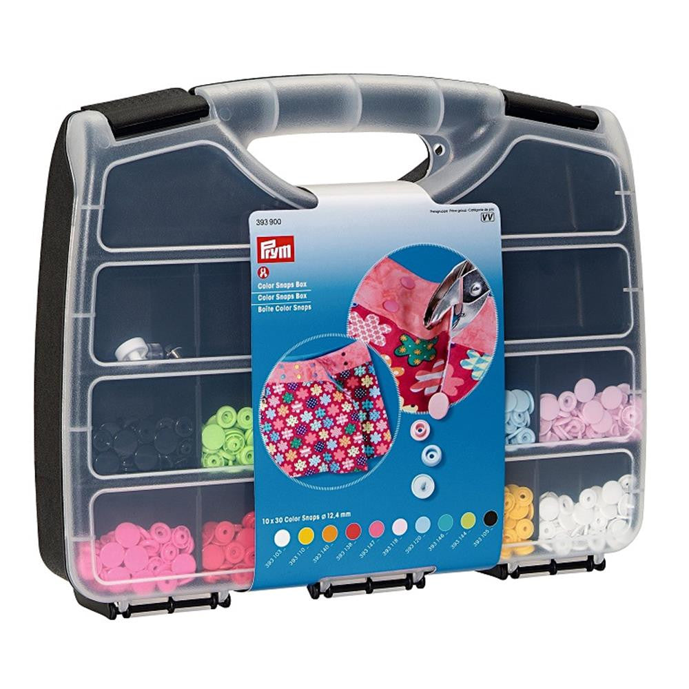 Prym Colour Snaps Press Fasteners Assortment with Case