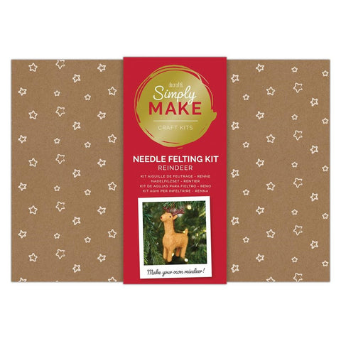 Docrafts Simply Make Needle Felting Christmas Reindeer Kit
