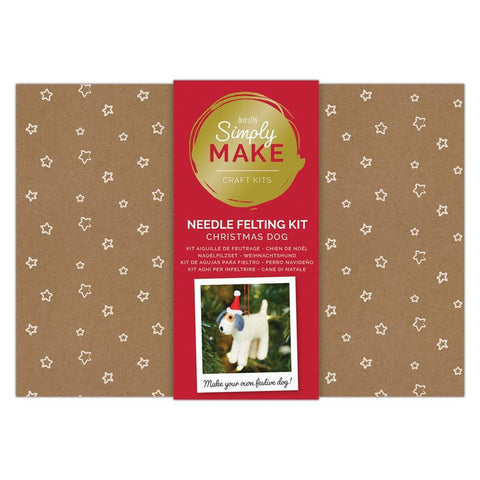 Docrafts Simply Make Needle Felting Christmas Dog Kit